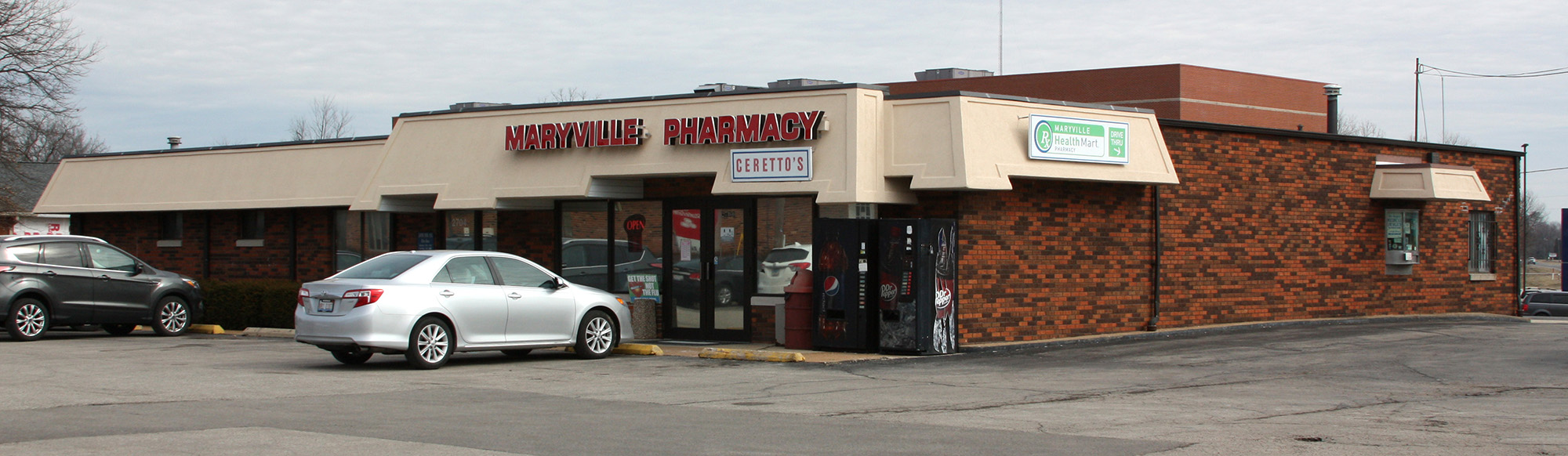 Maryville Pharmacy is Located at 2700 N. Center in Maryville, Illinois